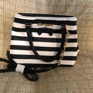 Betsey Johnson striped purse